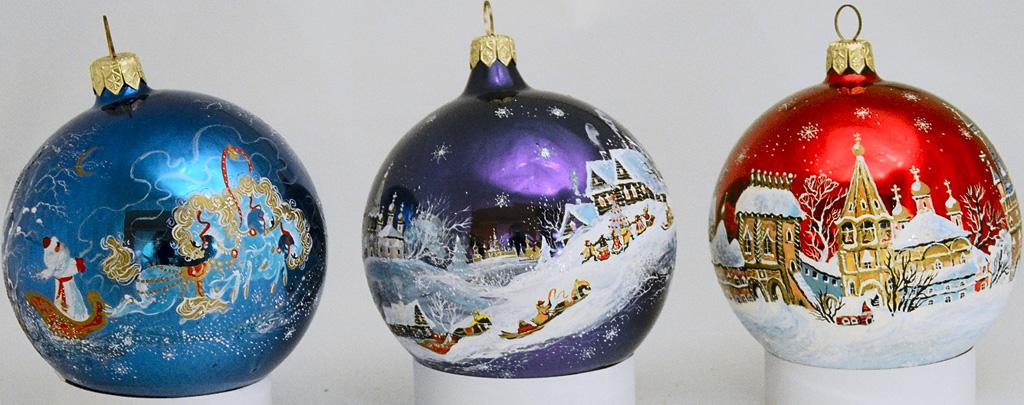 Роспись новогодних шаров на заказ