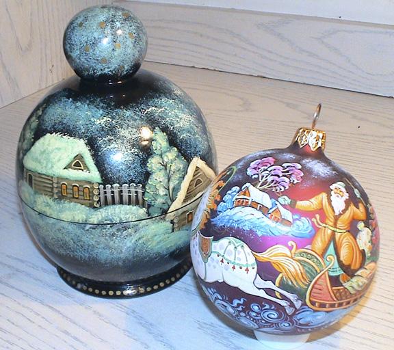 Роспись новогодних шаров мастер класс фото